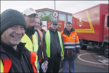 Royal Mail workers, photo by Socialist Party