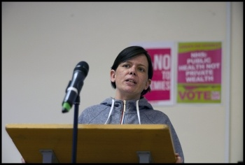 Nicola Jackson, prospective TUSC candidate in Kirklees, Yorkshire, photo Paul Mattsson