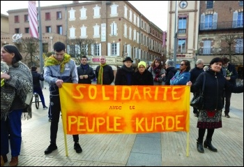 Kurdish protest Albi, south west France, photo Terry Adams
