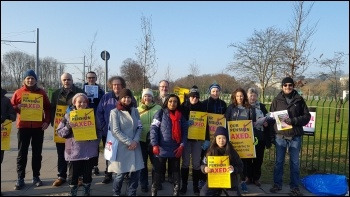 University of Nottingham UCU pensions strike 22 February 2018, photo Gary Freeman, photo Gary Freeman