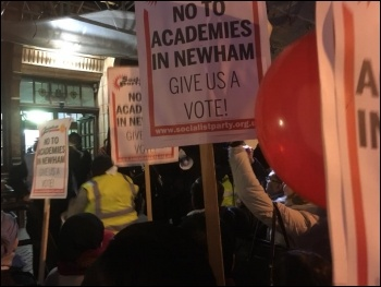 Newham anti-academies rally 26 February 2018, photo Niall Mulholland