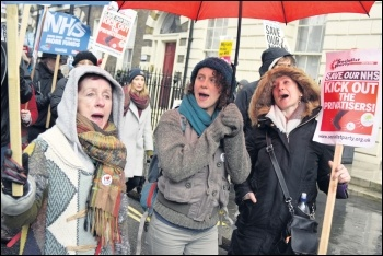 Marching to save the NHS, photo by Socialist Party