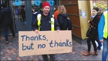A Sheffield UCU member responds to the deal, 13.3.18, photo Alistair Tice