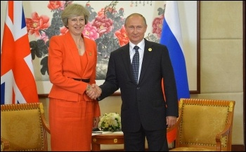 Putin with May, 4.9.16, photo Creative Commons, www.kremlin.ru.