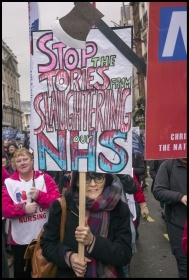 Demonstration to save the NHS, February 2018, photo Paul Mattsson