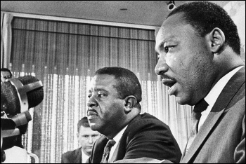 Martin Luther King, Junior (right) in BBC4's 'MLK: The Assassination Tapes'