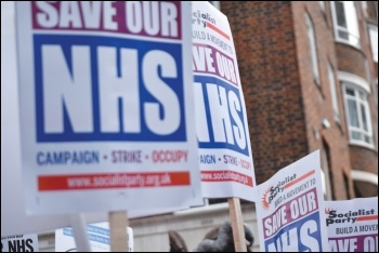 No to NHS outsourcing, photo Mary Finch