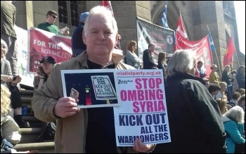 Protesting against bombing Syria, Liverpool, 14th April 2018