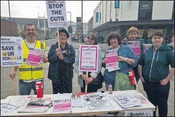 Socialist Party activists campaigning for TUSC in Southampton in 2018, photo Southampton Socialist Party
