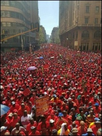 South African strike against anti-unions laws May 2018