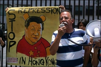 Protest against political repression in Hong Kong, photo SRiHK
