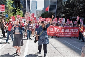 Socialist Alternative members and supporters take to the streets of Seattle in the fight to tax Amazon, photo by Socialist Alternative