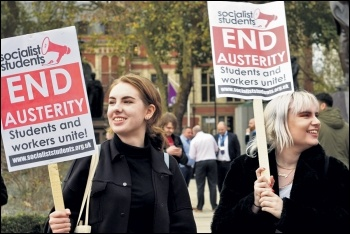 Students need a leadership that will fight fees and austerity, photo Socialist Party