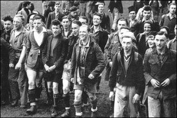 400 young workers took part in the mass trespass of Kinder Scout, still from 'Mass Trespass' by WellRedFilms
