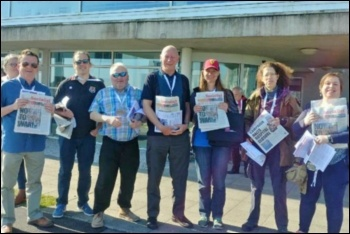 Socialist Party members at Wales TUC 2018, photo by Socialist Party Wales