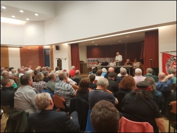 Every seat was taken at the Liverpool 47 meeting on 25 May, photo Dave Walsh