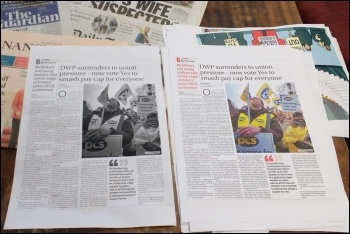 A proofing version (left) and final version (right) of page 6 - edited by Scott, laid out by James, proofed by Sarah and Ian