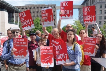 Seattle socialists say: tax the rich, photo by Socialist Alternative