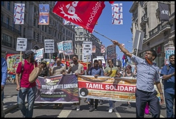 Refugee Rights and Tamil Solidarity on the NHS demonstration 30 June 2018, photo Paul Mattsson, photo Paul Mattsson