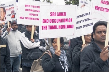 Marching for Tamil liberation in 2009, photo by Socialist Party