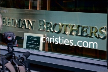 Lehman Brothers corporate furniture was auctioned off after the collapse, photo by Jorge Royan/CC
