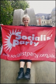 Young Socialists flying the flag, photo by Corinthia Ward