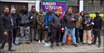 Camden Unison members on strike against parking contractor NSL 2 October 2018