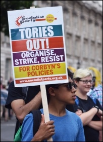 Protesting in London, June 2017, photo Mary Finch
