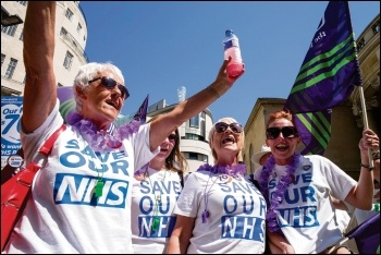Demonstrating to save our NHS, photo by Paul Mattsson