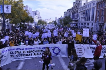 Striking for women's rights in the Spanish state , photo Libres y Combativas