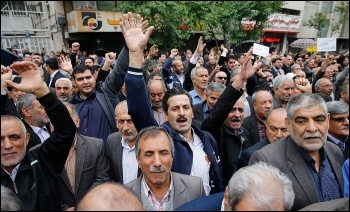 Workers Day protests in Iran, photo Armin Karami/CC