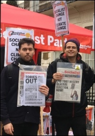 Socialist Party members on an environment demo, Dec 2018, photo Sarah Wrack