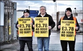 Liverpool seafarers demand better conditions, 30.11.18 , photo by Neill Dunne