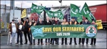 Liverpool Seafarers demand better conditions, 30.11.18, photo by Neill Dunne