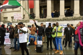 London protest in solidarity with the movement in Sudan, 27.1.19, photo by Paula Mitchell