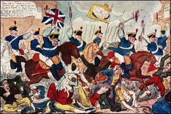 The Peterloo massacre, photo (public domain)