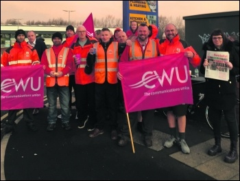 Manchester postal workers strike against bullying 22 February, photo Dane Yates