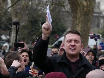 Racist, far-right figurehead Tommy Robinson, photo Shayan Barjesteh van Waalwijk van Doorn/CC