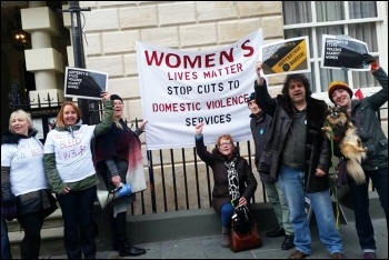 Womens Lives Matter campaigners fighting for domestic violence services, photo Iain Dalton