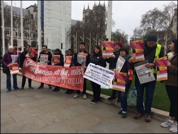 IWD at parliament, central London