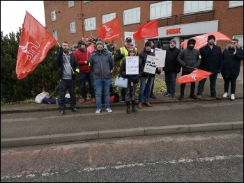 NSK workers in Newark striking against attacks on terms and conditions, photo Jon Dale, photo Jon Dale