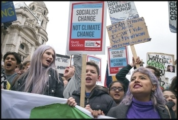 Climate Change  strike on 15th March 2019, London, photo by Paul Mattsson