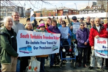 The freedom riders' five-year rally, 1.4.19, photo by South Yorkshire Freedom Riders