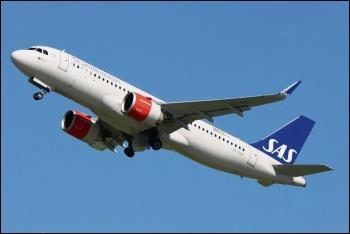 A Scandinavian Airlines jet, photo by Marvin Mutz/CC