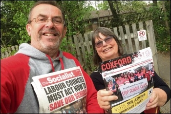 Socialist Party members including candidate Sue Atkins out campaigning in Southampton, photo by Nick Chaffey