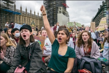 School students fighting for system change on the climate strikes, photo Paul Mattsson