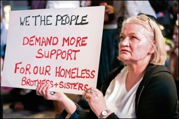 Tory and Blairite austerity has driven up homelessness, photo by Paul Mattsson