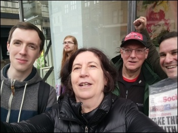 Socialist Party campaigning in Newcastle