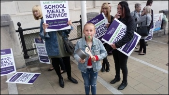 Barnsley Unison lobby of council cabinet 29.5.19, photo A Tice