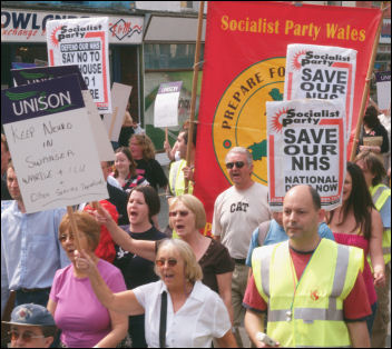 Marching through Swansea to save NHS services